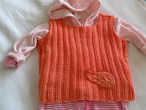 Detské oblečenie - Vesta slimáčik - máčik - 6624862_