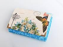 Peňaženky - V pomněnkové modři - malá na více karet - 6626043_