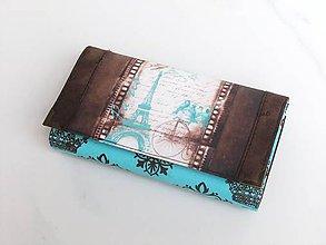 Peňaženky - Paříž v pozdním létě - 17 cm, na spoustu karet - 6626115_
