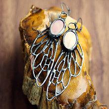 Náušnice - náušnice Pierka s perleťou pre Barbaru - 6624332_