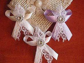 Pierka - Č. 72 Pierka s čipkou a štrasovým kvetom - 6625746_