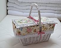 Košíky - Piknik v ružovom - 6624667_
