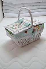 Košíky - Piknik v tyrkysovom - 6624872_