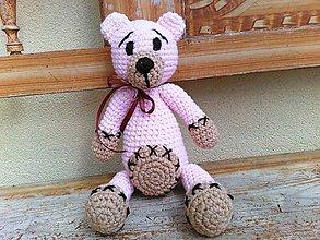 Hračky - macík ružovo-hnedkýýý - 6626234_