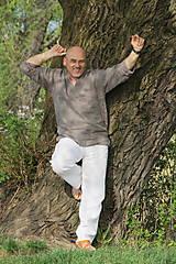 Oblečenie - Ľanová košeľa Horislaw - šedá - 6626528_
