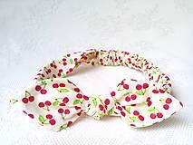 Pin Up headband on elastic for kids (sweet cherries)