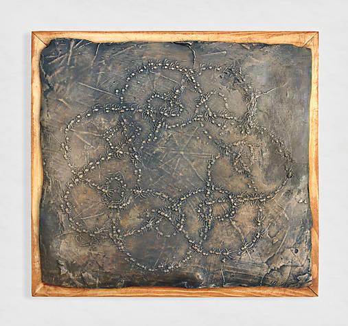 Bronzový reliéf - Pavúčiky pre šťastie - posledný kus