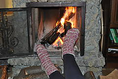 Obuv - Teplé ponožky rose - 6628019_