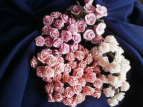 Galantéria - Saténové ružičky priemer 1,5cm - 6628142_