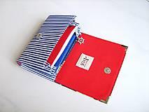 Peňaženky - Námořnická - malá na více karet - 6628346_