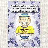 Papiernictvo - Zápisník jedál s vtipným citátom ,,Dôležité je to, čo je vo vnútri\
