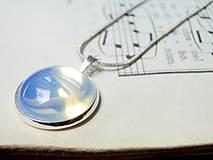 Náhrdelníky - Opalite in Silver / Náhrdelník s opalitom v striebornom prevedení - 6631670_