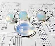 Sady šperkov - Opalite Set / Set šperkov s opalitom v striebornom prevedení - 6632161_