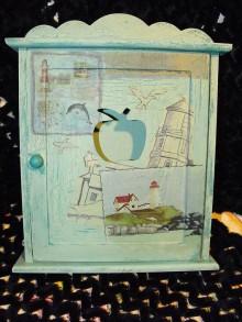 Krabičky - Skrinka na kľúče v námornickom - 6632420_