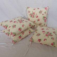 Textil - Ruža na bielej - 6630941_