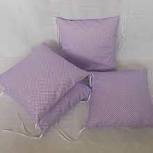 Textil - Fialová svetlá s bodkou - 6631021_