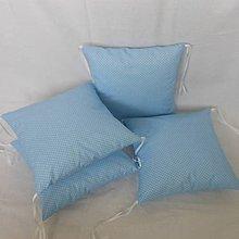 Textil - Modrá svetlá s bodkou - 6631066_