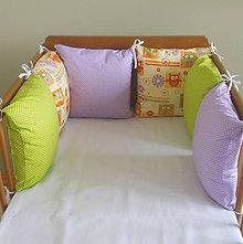 Textil - Sova,fialová,zelená - 6631098_