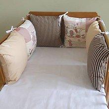 Textil - Na farme, béžová, hnedý pruh - 6631117_
