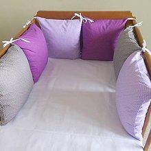 Textil - Fialová sýta, fialová svetlá, šedá - 6631175_