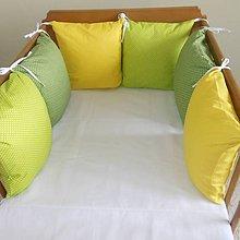 Textil - Zelená tmavá, zelená svetlá, žltá - 6631191_