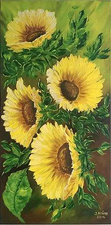 Obrazy - Rozkvitnuté slnečnice - 6631552_