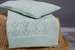 """Textil - Detská deka, """"Classic Royal"""", OEKO-TEX® - Bledozelená - 6630385_"""