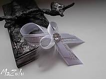 - Svadobné pierko malá pre hostí v striebornom I. - 6629695_