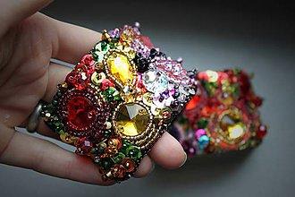Náramky - Luna Lovegood - vyšívaný náramok (farby 5) - 6632409_