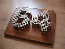 Tabuľky - Číslo na dom zo skrutiek (Industrial house number) - 6629841_