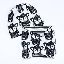 Detské súpravy - SET oboustranná čepice a oboustranný nákrčník (BIObavlna) - 6631970_