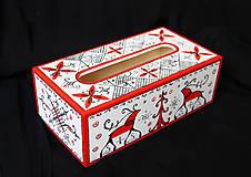 Krabičky - Ručne maľovaný servitkovník s jeleňmi - 6630343_
