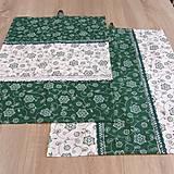 - Zeleno biela chalupárska - utierky 38x55 - 6630280_