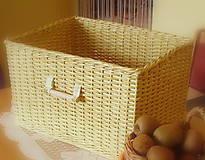 Košík prírodný 4 (30 x 40 výška 24 cm  - Béžová)