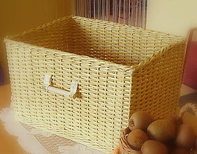 Košíky - Košík prírodný 4 (30 x 40 výška 24 cm  - Béžová) - 6629932_