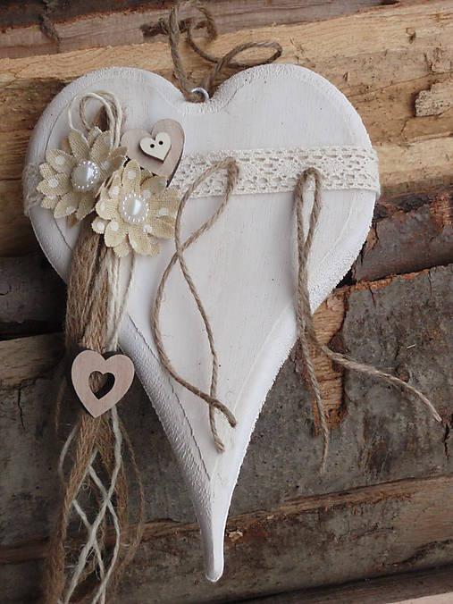 38d66dac2 Vintage drevené srdce pod obrúčky / erikak - SAShE.sk - Handmade ...