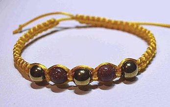 Náramky - Shamballa náramok hematit - pieskovec - 6630465_
