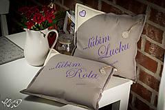 """Úžitkový textil - Vankúšiky pre """"Lucku a Rola"""" - 6636439_"""
