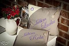 """Úžitkový textil - Vankúšiky pre """"Lucku a Rola"""" - 6636442_"""