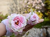 Rukavice - AKCIA háčkovaná rukavička by michelle flowers - 6635254_