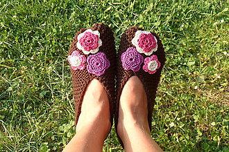 Obuv - Pletené papučky - 6635883_