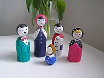 Rodinka veselých - drevené figúrky