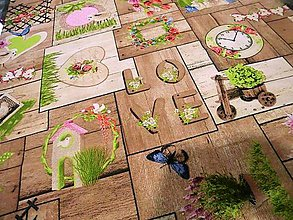 Textil - Bavlna režná - Parket rosa cena za 10 cm - 6636818_