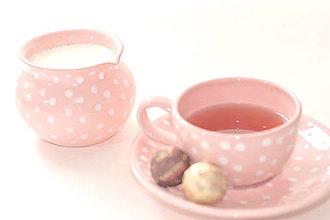 Nádoby - Ružový mliečník s bodkami - 6634067_