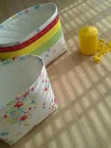 Košíky - Textilný košík..pestrý - 6636698_