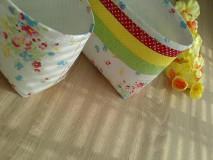 Košíky - Textilný košík..pestrý - 6636719_