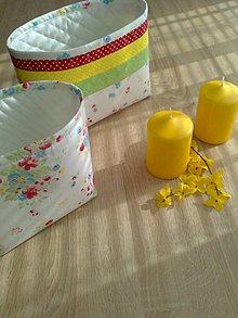 Košíky - Textilný košík..pestrý - 6636700_
