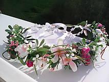 """Ozdoby do vlasov - Kvetinový venček do vlasov """"Slávnosť v kvetinovej záhrade..."""" - 6633403_"""
