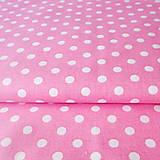 ružové bodky; 100 % bavlna, šírka 140 cm, cena za 0,5 m