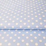 Textil - svetlomodré bodky; 100 % bavlna, šírka 140 cm, cena za 0,5 m - 6636481_